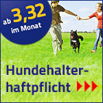 Hundehaftpflicht                                                 bei Krist                                                 Spezialversicherungen ab                                                 3,32 € pro Monat